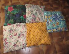 Lot 5 grands coussins tissus variés housse oreiller taie lit canapé fauteuil