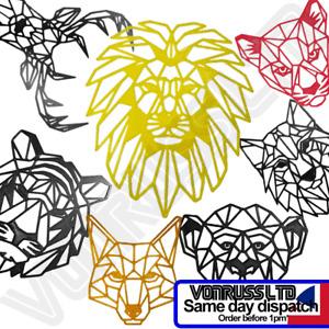 Geometric Animal Heads Modern Design Wall Art Tiger, Loin, Monkey Wolf Deer etc