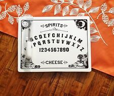 New Magenta Halloween Ouija Board Ceramic Cheese Tray Dish With Knive Spirits