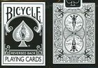 BLACK REVERSED BACK Bicycle deck of playing cards 2nd ed USPCC magic trick gaff
