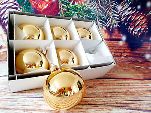 Christmas CLEAR GOLD SHINY  WEDDING BAUBLES BALL ORNAMENT 80mm!!!!
