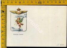 Aviazione Aeronautica Militare stemmi araldica lf 247 Caproni (pieghina angolo)