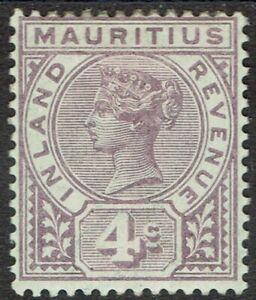 MAURITIUS 1896 QV INLAND REVENUE 4C POSTAL FISCAL