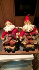 Porcelain Santa in a wooden rocking chair