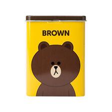 Korea LINE Friends BROWN Character Band-Aid Bandage 40 sheets Tin Case Naver App