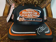 VINTAGE NASCAR Tony Stewart Home Depot RACING LEATHER HAT CAP NWT WINSTON CUP