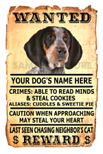 Bluetick Coonhound Wanted Poster Flex Fridge Magnet Personalized