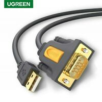 UGREEN 6FT USB 2.0 to RS232 DB9 Serial Cable Male A Converter Adapter Fr Windows