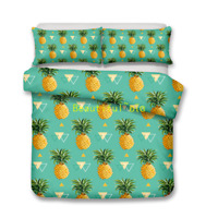 Pineapple Single/Double/Queen/King Size Bed Quilt/Doona/Duvet Cover Set Green