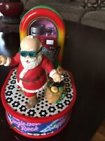 VTG 1988 ENESCO JINGLE BELL ROCK Dancing Santa Animated Lighted Musical w/Box
