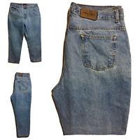 GEOFFREY BEENE Vtg 90s Mens Gents Designer Jeans Denim Pants Light Blue W38 30L