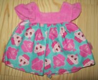Baby Alive Doll Dress Pink Blue Cupcake Print Doll Clothes