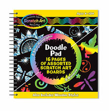 Melissa Doug Scratch Art Doodle Pad With 16 Scratch Art Boards And Wooden Stylus