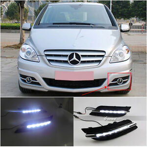 LED Daytime Running Light For Mercedes-Benz W245 A-Class B180 White (2009~2010)