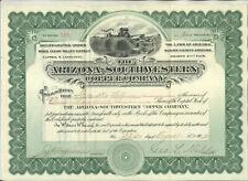 1907 ARIZONA SOUTHWESTERN COPPER COMPANY STOCK CERTIFICATE