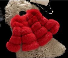 100% Real Genuine Fox Fur Coat Jacket Women Fashion Warm Winter Lady Coat C0011
