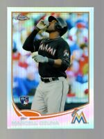 2013 TOPPS CHROME MARCELL OZUNA RC REFRACTOR #33 MARLINS