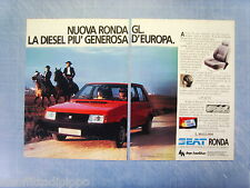 QUATTROR983-PUBBLICITA'/ADVERTISING-1983- SEAT RONDA GL- L.10.613.000 -2 fogli