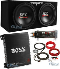 "MTX TNE212D 12"" 1200W Dual Loaded Subwoofer + Amplifier + Capacitor + Amp Kit"