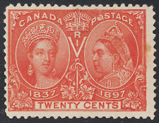 Canada 20c QV Diamond Jubilee, Scott 59, F MLH w/stain, catalogue - $150