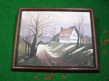 original acrylic OLD HOMESTEAD painting direct from the artist  18 X 22""