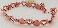 Copper Bracelet 8 in. Linked Wheeler Sciatcia Arthritis Healing Folklore cb 295