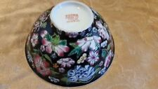"Vintage Black Floral China Bowl, Marked ""09"" Gorgeous!"