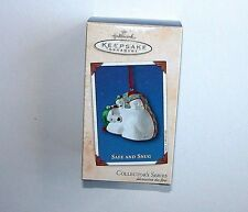 NEW NIB Hallmark Christmas Ornament Safe and Snug #2 2002 Bears