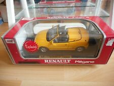 Anson Renault Megane Cabriolet in Yellow on 1:18 in Box