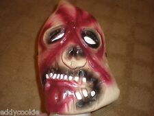 SCARY ZOMBIE / FANGS LATEX FULL FACE HALLOWEEN MASK - ADULT