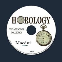 Horology Vintage Books Collection 86 PDF E-Books on 1 DVD Clocks,Watches,Time