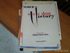 Robin MacLachlan: March to Victory, piano solo (Schroder and Gunther)