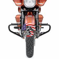 Black Lindby Multibar Engine Guard Highway Bar Crash Pegs 97-2016 Harley Touring