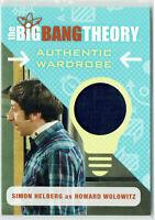 The Big Bang Theory Season 6 & 7 Wardrobe Card M33 Simon Helberg Howard Wolowitz