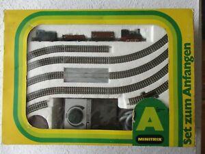 Minitrix 11068 Spur N Set zum Anfangen Güterzug gebraucht