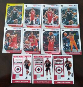 2019-20 Basketball Cards Team Houston Rockets Lots 11 James Harden & More