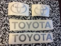 Toyota Forklift  Decal Kit  includes all 4 decals in picture Dark  Grey