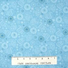 Care Bear Fabric - Sky Blue Flower & Paisley - VIP by Cranston YARD