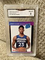 Jarrett Culver Rookie 2019 Panini Instant Graded 8 SP 1989 Retro Style T-Wolves