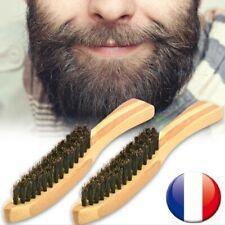 Brosse à barbe poils de sanglier 17cm entretien moustache peigne de rasage FR