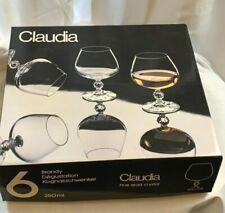 Bohemia Crystal Claudia Brandy Glasses Set Of 6 250ml