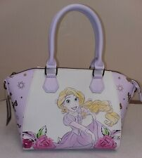 New Loungefly Disney Tangled Rapunzel Floral Crossbody Satchel Purse Bag NWT