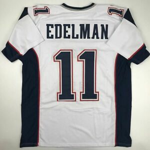 New JULIAN EDELMAN New England White Custom Stitched Football Jersey Men's XL