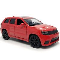 1:36 Jeep Grand Cherokee Trackhawk SUV Die Cast Modellauto Auto Spielzeug Rot