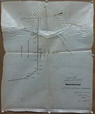 "India vintage hand drawn Railway map 18"" x 22.5"" on paper like stiff cloth"