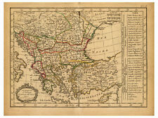 Turkey Anatolia Istanbul Greece Romania Bulgaria map Lattre Delamarche ca.1800