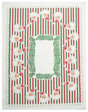 "Moda Home ""Santa Bells"" Christmas Tablecloth 52x65 in Cloth Bag NWT 981-150"