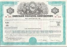 CHRYSLER FINANCIAL CORPORATION....DEBENTURE DUE 1991