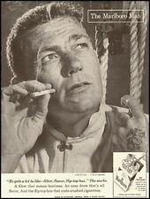 1959 vintage cigarette ad, The MARLBORO MAN, (wasn't always a cowboy)  -122012