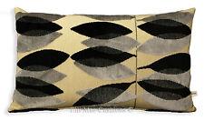 Sanderson Miro Black Silver Cut Velvet Designer Cushion Pillow Cover